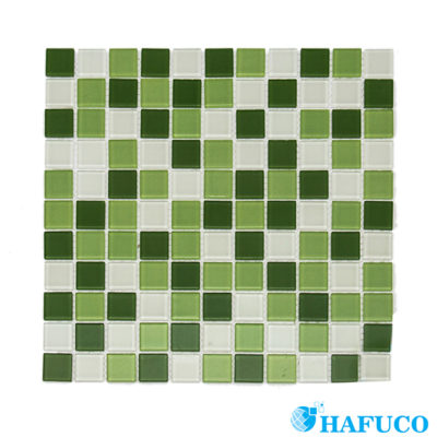 Gạch Mosaic xanh trắng - Hafuco