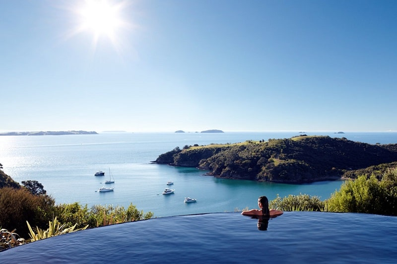 Bể bơi Delamore Lodge, đảo Waiheke, New Zealand
