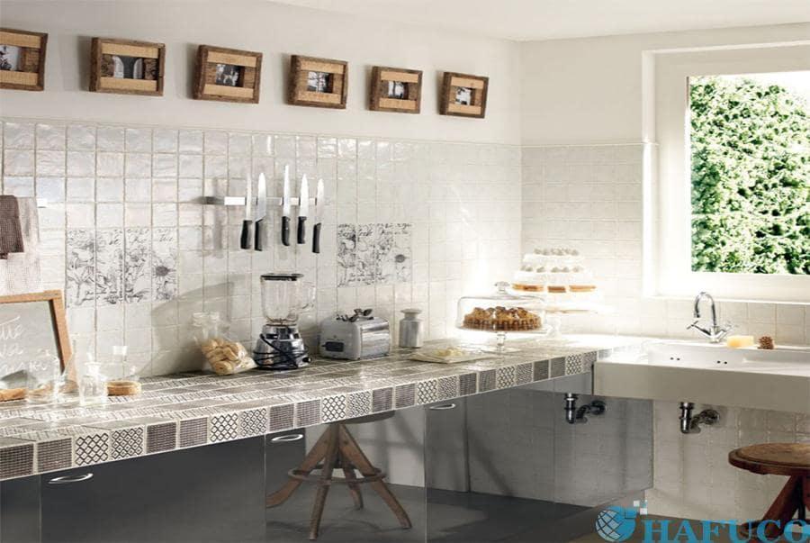 Gạch mosaic ốp bếp cao cấp của Hafuco